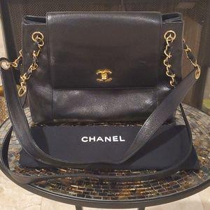 Vintage Chanel Caviar Dble Strap Shoulder Bag